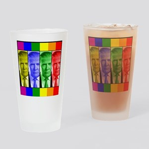 Trump Gay Pride Drinking Glass